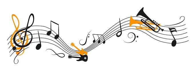 Notes de musique, intelligence multiples, intelligence musicale.